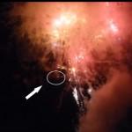 宿毛花火に空撮のラジコン