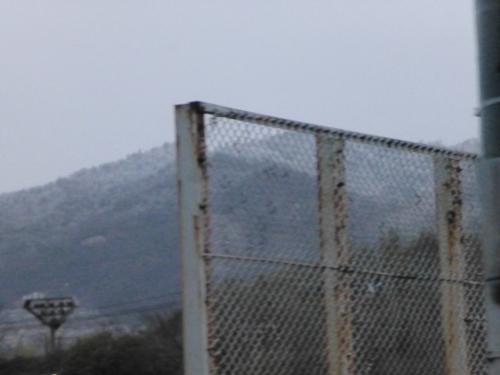 広島の山は雪でした