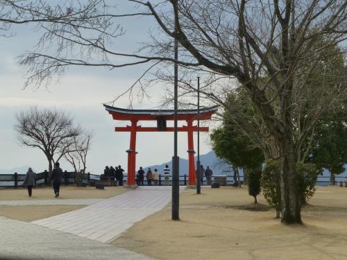 宮島サービスエリアの厳島神社の鳥居