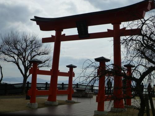 厳島神社、レプリカの鳥居