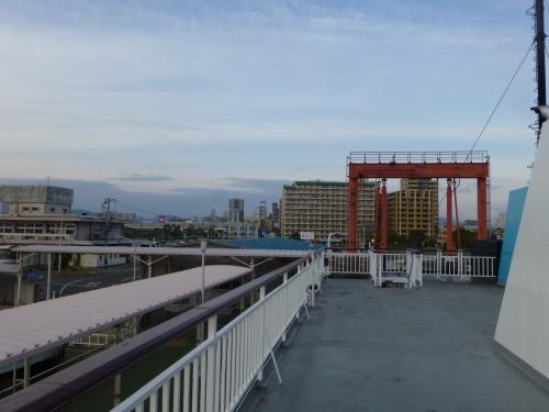 広島港を出発