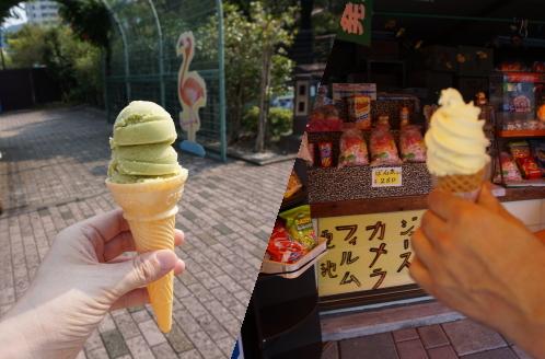 アイスクリンとソフトクリーム