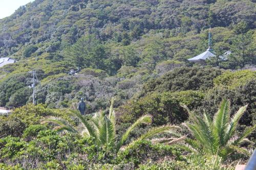 足摺岬展望台から万次郎像