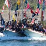 鹿島神社大祭-神輿を乗せた船