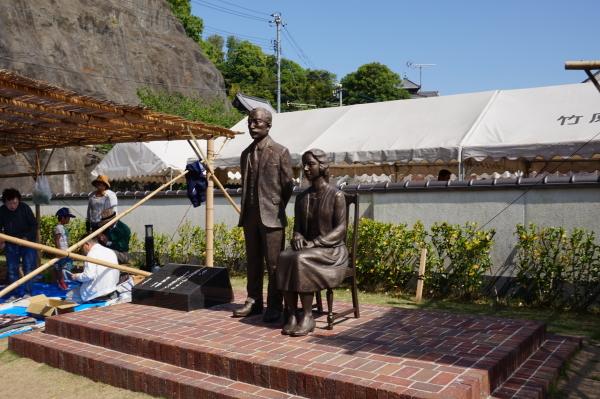 竹原・マッサンとリタの銅像