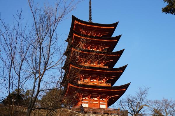 宮島、五重塔