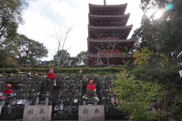 「千体地蔵」と五重塔