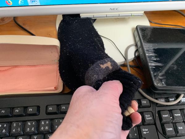 靴下のハンディモップ