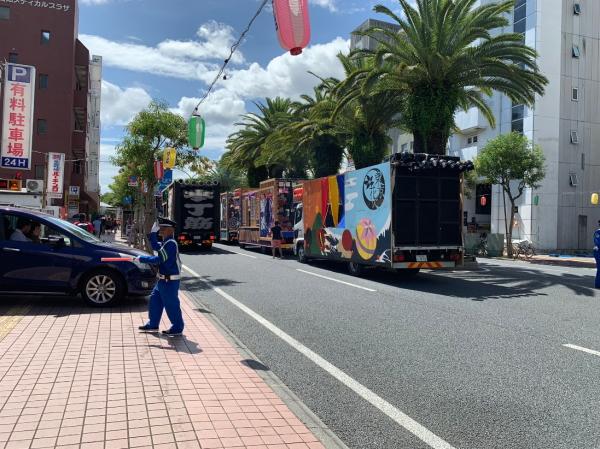 よさこい祭り-地方車